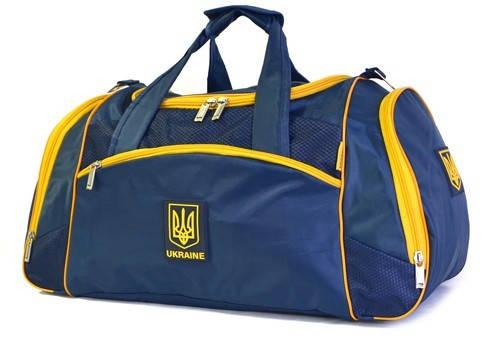 Дорожная сумка средних размеров 50 л. Ukraine (Украина) C171 синяя