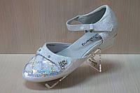 Праздничные, нарядные детские туфли для утренника для девочки р.24,25