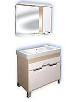 Зеркало для ванной комнаты модель з1-45 Венге (светлый) D716