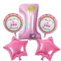 Набор фольгированных шаров 1 день рождения