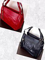 Новинка уже в продаже!!! Женская модная сумка Gucci в черном и красном цветах AB1612