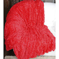 Покрывало травка 220*240 плед (искусственный мех) красный