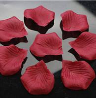 Лепестки роз искусственные 200 шт. Цвет бордовый. Украшение праздника, свадьбы, торжества