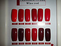 Гель-лак MASTER 15 мл.красные оттенки разные
