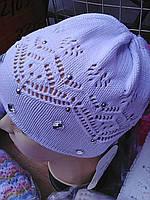 Весенняя шапочка для девочки(-140)