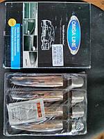 Накладки на ручки на Фольцваген Гольф-5 с 04-09 (нерж) Omsa.