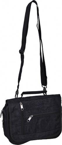 """Небольшая мужская сумка """"Студенческая"""" Bagland 21270 (черный)"""