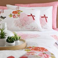 Комплект постельного белья PIERRE CARDIN перкаль Elodie розовый