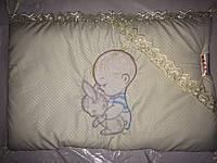 """Фирменный комплект постельного белья с балдахином. Вышивка """"Малыш New"""""""