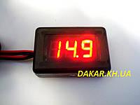 Вольтметр термометр автомобильный программируемый 12В 24В АПрИ