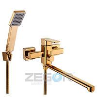 Смеситель для ванны с длинным изливом Zegor  LEB7-A123-G