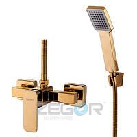 Смеситель для душевой кабины Zegor LEB5-A123 gold