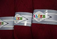 Пряжа нитки для вязания Lanagold Ланаголд 800 полушерсть бордо