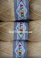 Пряжа нитки для вязания Lanagold Ланаголд 800 полушерсть мед
