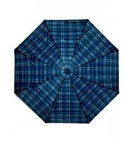 Зонт женский синий в клетку