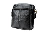 Мужская маленькая сумка-барсетка из натуральной кожи.