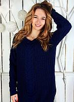 Удлинённый свитер женский