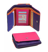 Женский кошелек разноцветный кожанный Rainbow Dr.Bond