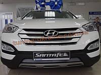 Решетка радиатора хромированная с лого для Hyundai Santa Fe IX45 2013+