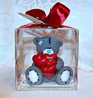 """Мыло ручной работы """"Мишка Тедди с сердцами"""""""
