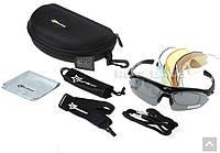Поляризаційні сонцезахисні окуляри RockBros - 5 пар лінз - UW400. Policarbonate (Black)