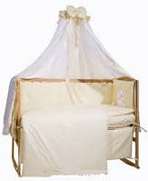 """Детский постельный комплект Bepino 8 предметов """"Мишка и овечка"""" Жаккард с вышивкой, аппликация"""