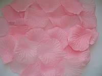 Лепестки роз искусственные 200 шт. Цвет нежно-розовый. Украшение праздника, свадьбы, торжества