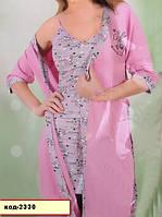 Комплект халат и ночнушка большого размера  2330