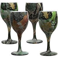 Набор бокалов Riversedge для вина Camo Wine Glasses листья