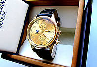 Часы наручные BMW золотые черный ремень, купить наручные часы