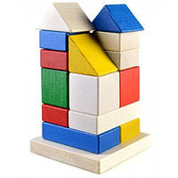 Конструктор из дерева Пирамидка - Дом Ду-22 Руди, 16 деталей