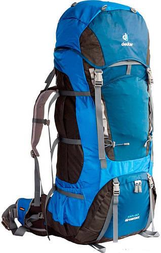 Туристический качественный мужской рюкзак DEUTER Aircontact 110+10, 43452 3980 синий
