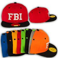 """Модная кепка рэперка с прямым козырьком """"FBI"""""""
