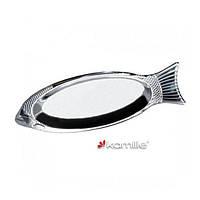 Блюдо для рыбы из нержавеющей стали Kamille 4338 (35см)