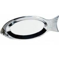 Блюдо для рыбы из нержавеющей стали Kamille (4339) 40см