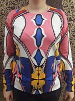 Оригинальная женская кофта с абстрактным рисунком, фото 1
