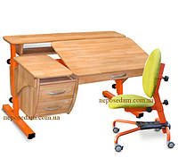 Письменный стол с ящиками и полками Эргономик +кресло