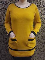 Модная туника с накладными карманами и декоративными пуговицами, фото 1