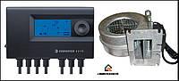 Блок управления Euroster 11WB +турбина WPA120 для котла на твердом топливе