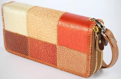 Стильный многофункциональный бумажник из натуральной кожи Traum 7201-20