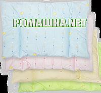 """Подушка """"нулевка"""" для новорожденного КРУГ в кроватку, силикон, гипоаллергенная, верх 100% хлопок, 58х38 см"""