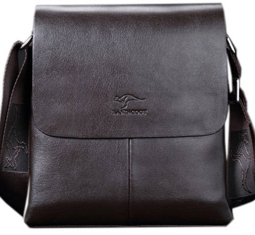 Стильная мужская сумка-планшет из PU кожи Kangaroo 7171-20 коричневый
