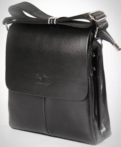 Вместительная мужская сумка-планшет из PU  кожи Kangaroo 7171-21, черный