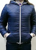 Куртка женская короткая весна-осень демисезонная с капюшоном