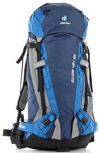 Туристический мужской удобный рюкзак на DEUTER Guide 42+ EL, 3301915 3980 синий