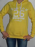 Толстовка женская с капюшоном теплая спортивная (2 цвета) рр. S, M, L, XL