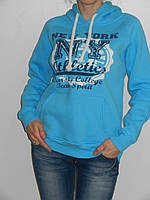 Теплая толстовка женская с капюшоном спортивная (2 цвета) рр. L