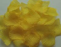Лепестки роз искусственные 200 шт. Цвет желтый. Украшение праздника, свадьбы, торжества