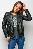 Стильная куртка косуха из кожзама