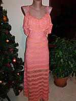 Вечернее платье в пол гипюр